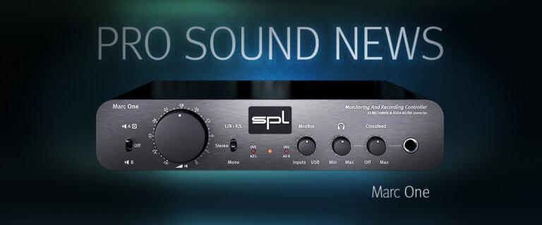 Marc One @ Pro Sound News