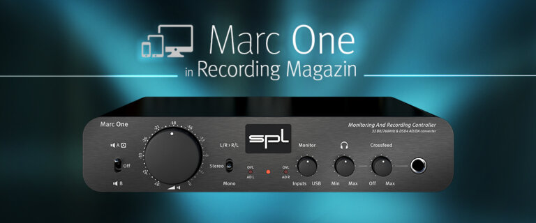 Marc One in Recording Magazin