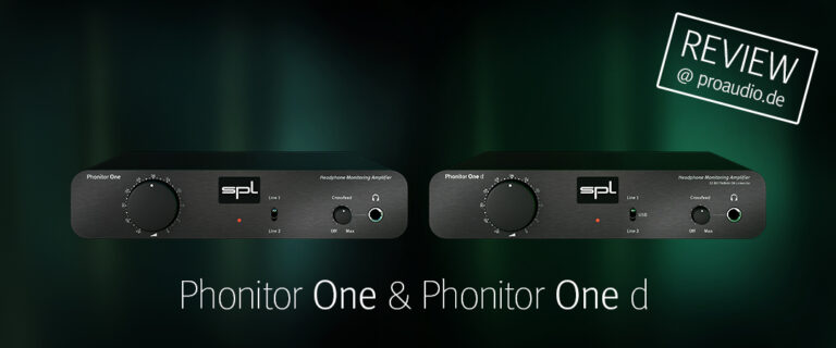 Phonitor One & Phonitor One d @ proaudio.de